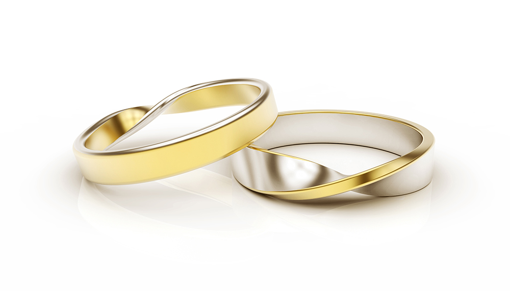 Wedding bands invitations clea lautrey design and for Pictures of wedding rings for invitations