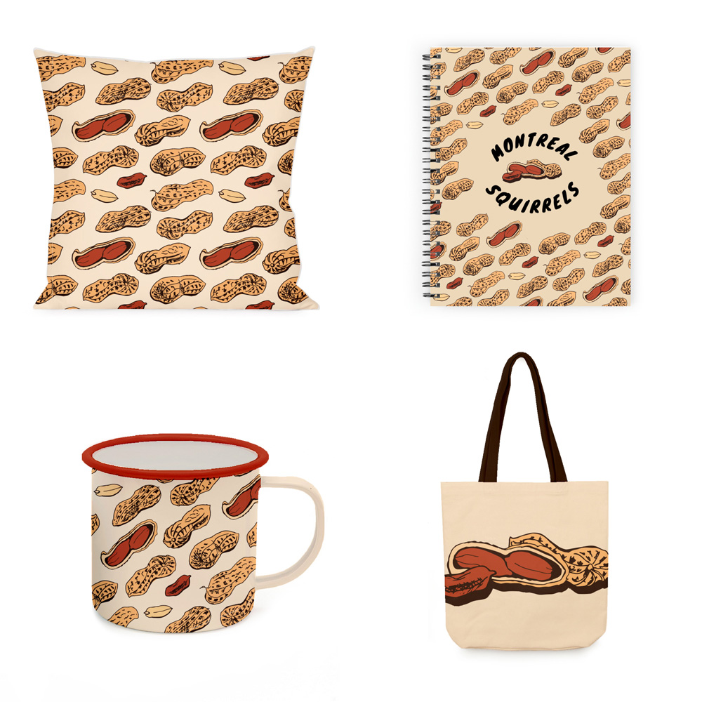 Montreal Souvenirs | Squirrels | Pillow, notebook, mug and tote