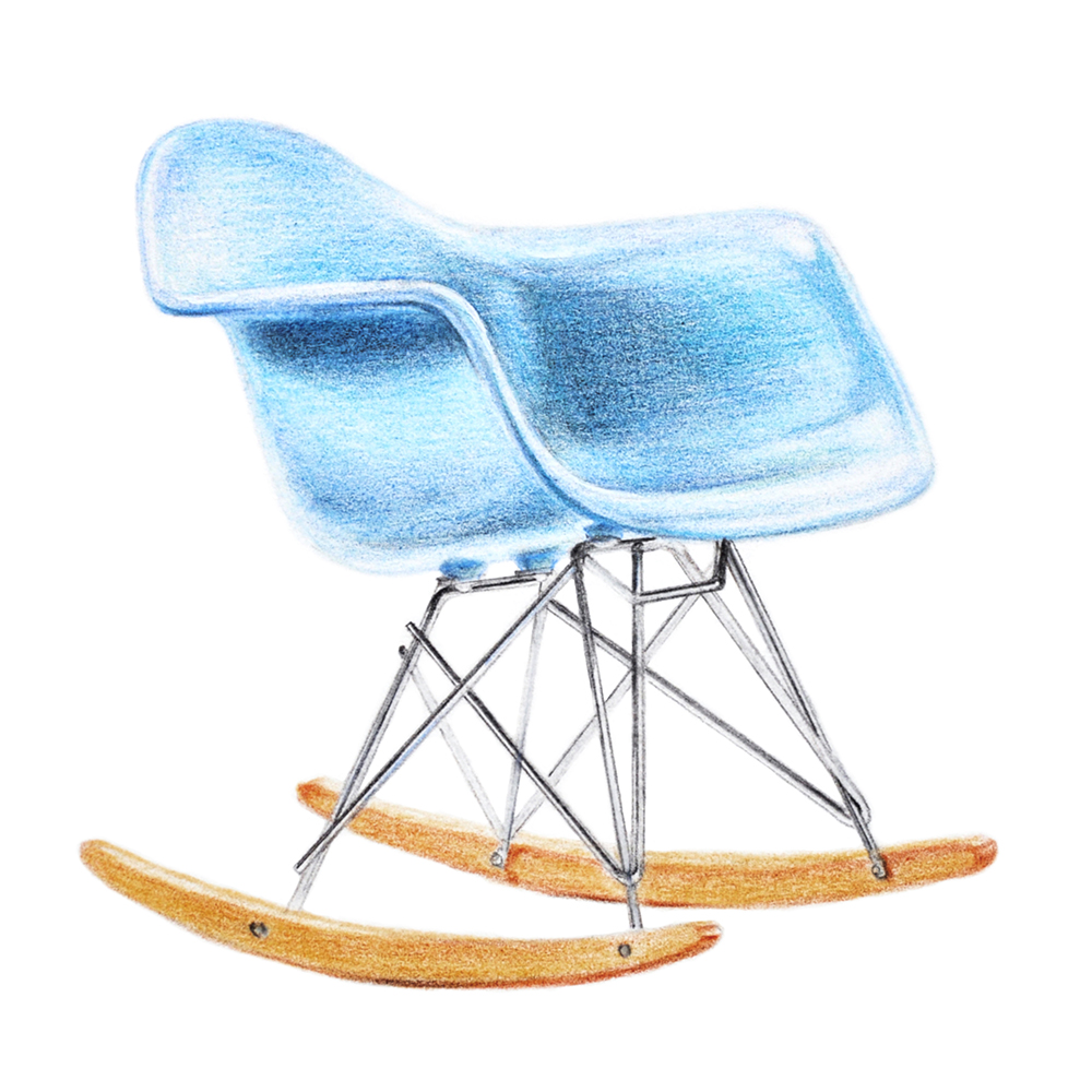 Pencil Drawing | Realism | Eames Armchair