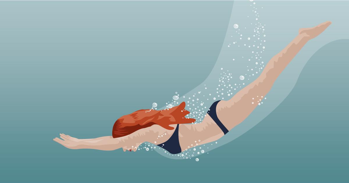 Digital Art   Health   Woman Swimming